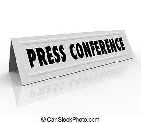 Press Conference Name Tent Card Guest Speaker - Press...