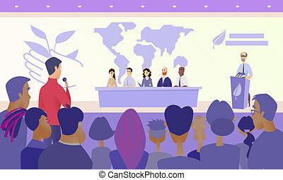 Press Conference on Eco Congress Vector Concept - ...