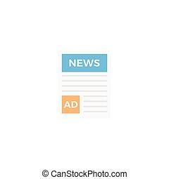 press  flat color icon