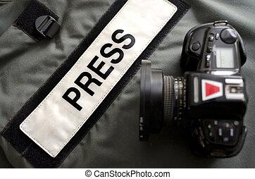 Press Gear Studio - Press photographers bullet proof vest ...