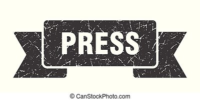 press grunge ribbon. press sign. press banner