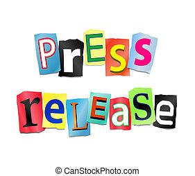 Press release concept. - Illustration depicting cut out...