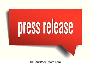 press release red 3d speech bubble - press release red 3d...