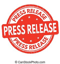 Press release  sign or stamp