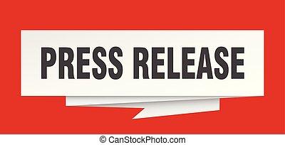 press release sign. press release paper origami speech...