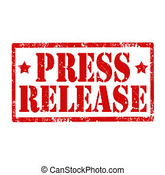 Press Release-stamp - Grunge rubber stamp with text Press...