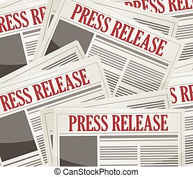press releases newsletters background illustration design...