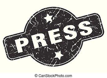 press round grunge isolated stamp