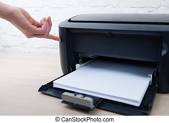 press the button to enable or disable printer - press the...
