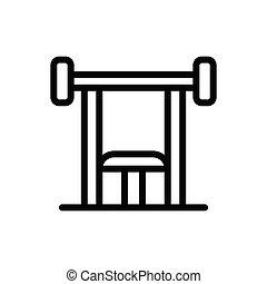 press  thin line icon