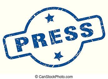 press vintage stamp. press sign