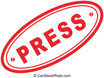 press word stamp in vector format