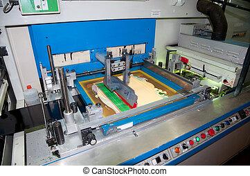 presse, industriel, impression, printshop:, flexo