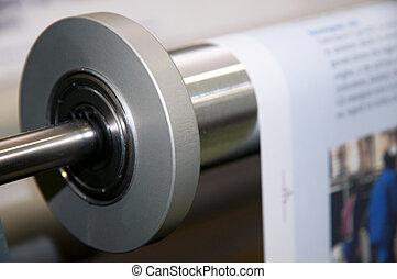 presse, toile, impression, machine:, numérique