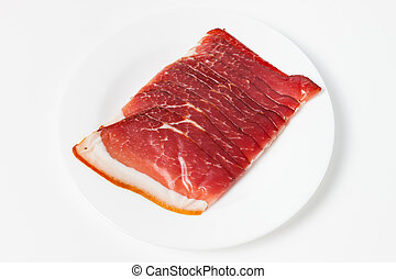 Pressed Meat on a plate