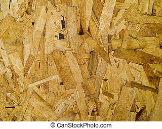 Press particle board made of wood flakes