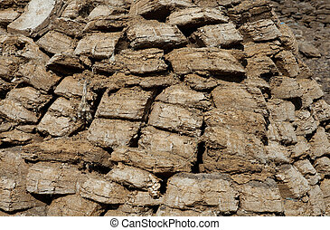pressed sheep manure. It is used as fuel in the steppes of ...