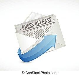 pressemappe, e-mail, abbildung