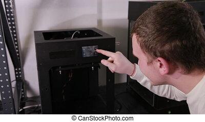 presses, préparer, technologie, boutons, il, impression, 3d...
