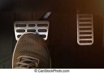 Pressing break pedal