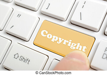 Pressing copyright key on keyboard