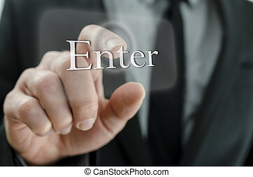 Pressing enter button on virtual screen
