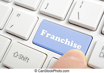 Pressing franchise key on keyboard
