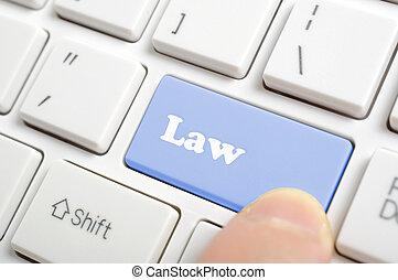 Pressing law key on keyboard