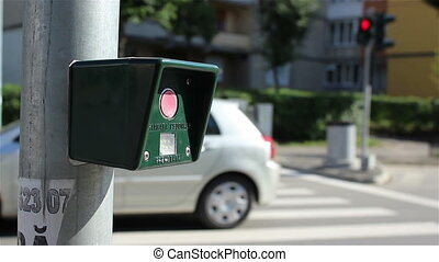 Pressing Pedestrian Traffic Light B