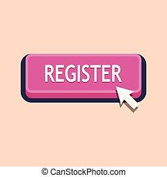 Pressing register button