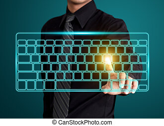 Pressing virtual type of keyboard
