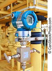 pression, émetteur, huile, essence