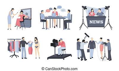 Pressman and operator video animation footage - Pressman and...