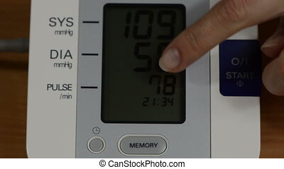pressure check tool - Finger show numbers on modern digital...