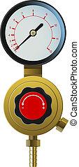 pressure controller - vector realistic pressure controller...