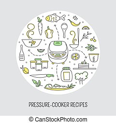 Pressure cooker card template