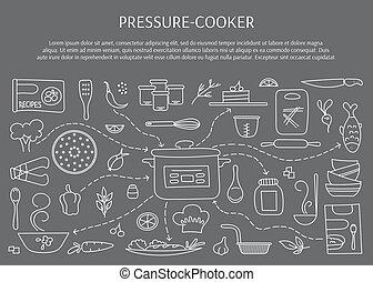 Pressure cooker elements