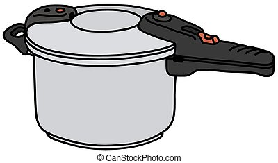 Hand drawing of a pressure cooker