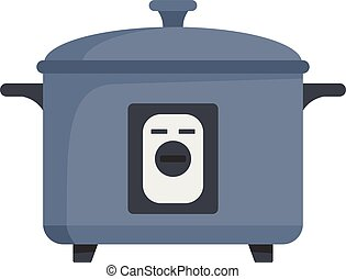 Pressure cooker icon, flat style