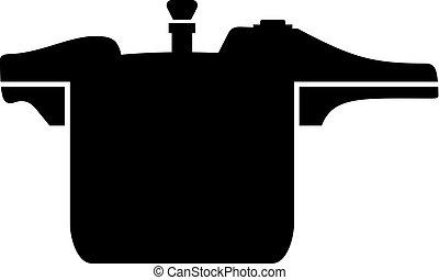 Pressure cooker icon - Pressure cooker, shade picture