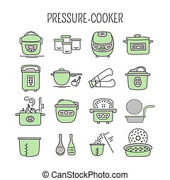 Pressure cookers set