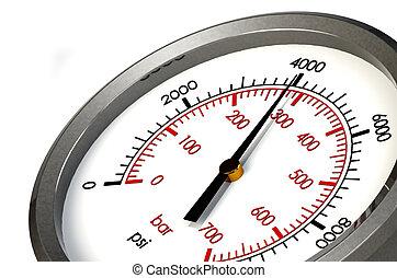 Pressure Gauge 4000 PSI - A Pressure Gauge Reading a...