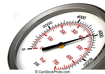 Pressure Gauge 6000 PSI - A Pressure Gauge Reading a...