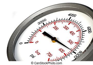 Pressure Gauge 8000 PSI - A Pressure Gauge Reading a...