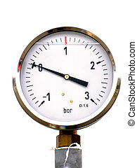 pressure gauge on the white background