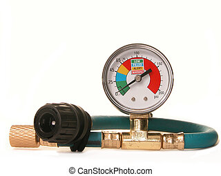 Pressure Gauge - Pressure gauge for an auto air conditioning...