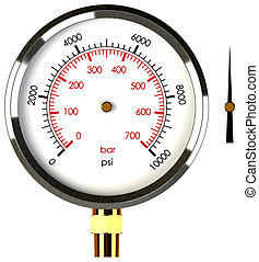 Pressure Gauge with Needle - A Pressure Gauge with a...
