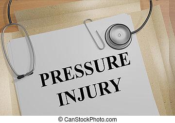 Pressure Injury concept - Render illustration of Pressure...