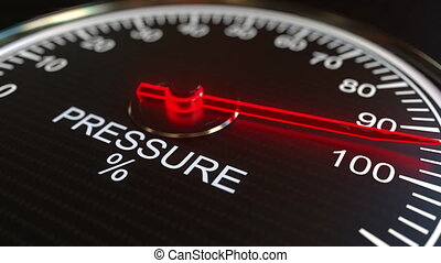 Pressure meter or indicator conceptual animation - Analog...