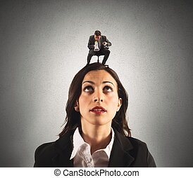 Pressure of the boss - Concept of pressure with boss...